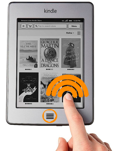 Captura de pantalla en Kindle Touch