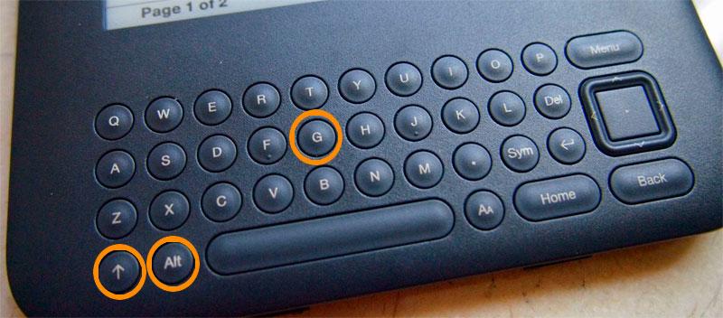 Kindle keyboard